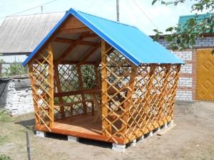 Продажа, изготовление деревянной беседки для дачи в Воронеже